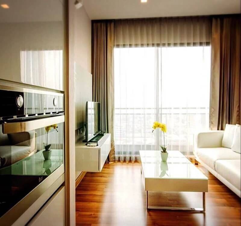 Rent Ivy Ampio 1 bedroom  44 sqm 11 fl MRT Thailand Cultural Center [code R- K0244]