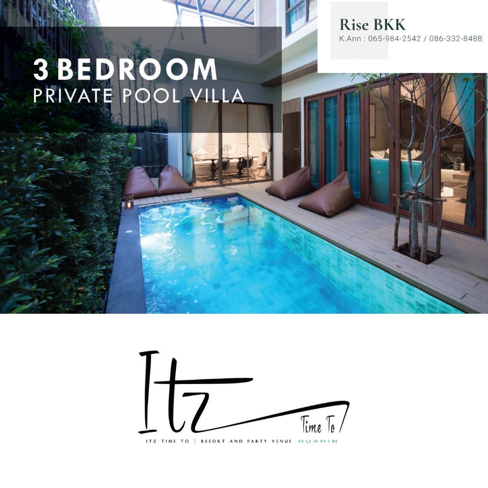 ภาพ6% rental guarantee for 3 years with ITZ TIME HUA HIN POOL VILLA