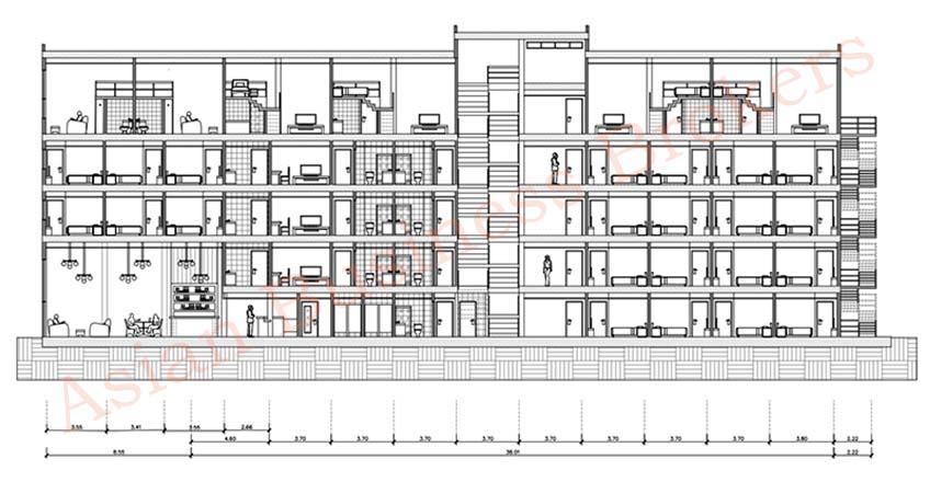0123021 ขายอาคารพาณิชย์ 12 ห้องพร้อมแบบแปลนโรงแรม 61 ห้อง ที่สุขุมวิท