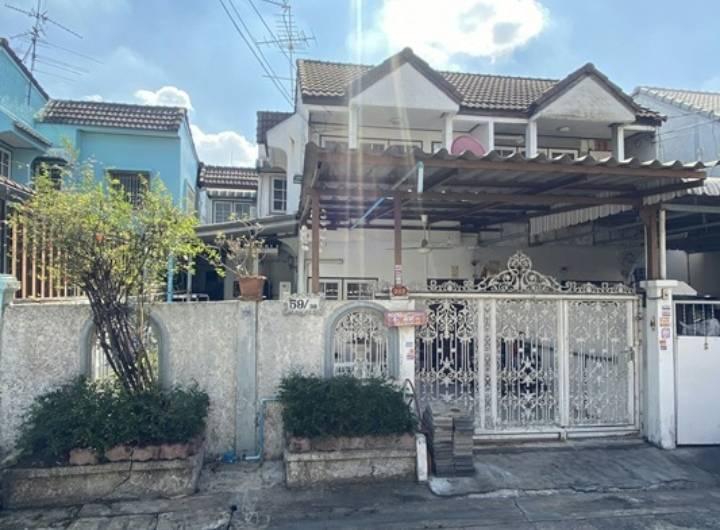 ภาพขายบ้านแฝด (2 ชั้น) หมู่บ้านสินทวีวิลล่า (กลางซอย) หลัง รพ.บางมด