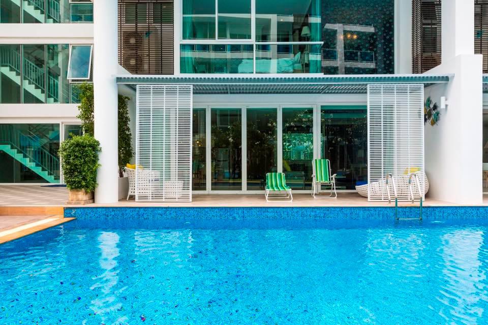 ภาพขาย คอนโด มาย รีสอร์ท หัวหิน ชั้น 1 Pool Access ระเบียงทิศใต้ (63-0370-45)