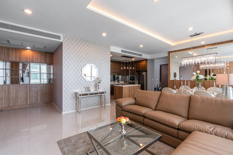 Menam Residences - Beautifully Furnished 3 Bedroom Corner Unit With River view