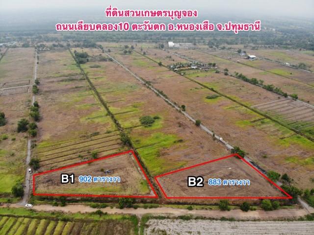 ภาพขายที่ดินสวย สวนเกษตรบุญจอง เลียบคลอง 10