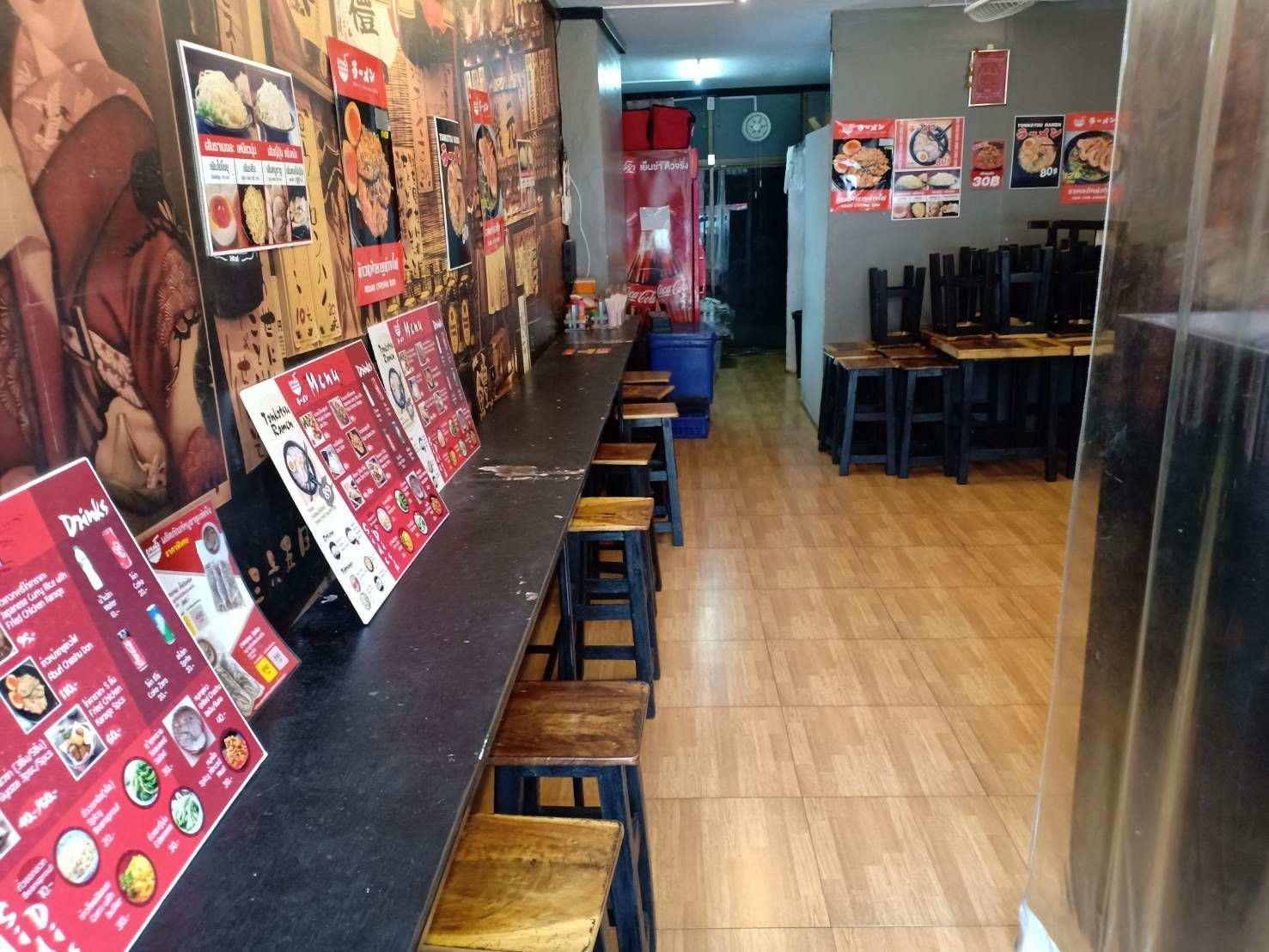 ภาพเซ้ง!! ร้านอาหาร ชั้นล่างคอนโด @ถ.ประชาสงเคราะห์ ดินแดง กรุงเทพ
