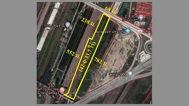 ภาพขายที่ดินติดถนน ทล.346 อ.เมืองปทุมธานี