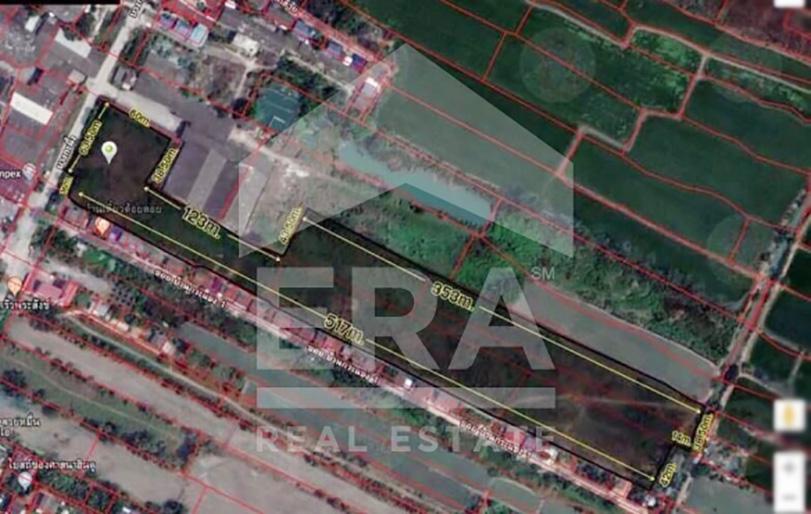 ภาพOP255 ที่ดินเปล่า 22-3-87.6 ไร่ อ.เมืองปทุมธานี