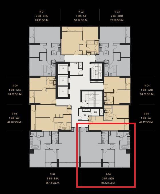 ภาพCeles Asoke - ONLY 267K Per Sqm / 2 Bed / Unit B2B