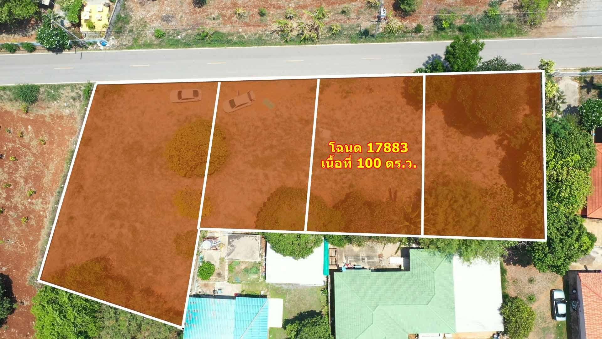 ภาพขายที่ดินกลางดงติดถนน  ต.กลางดง  เนื้อที่ 100 ตารางวา