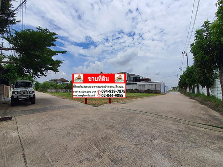 ภาพขายที่ดินหมู่บ้านปรีชา-สุวินทวงศ์ ใกล้โรงเรียนสารสาสน์วิเทศมีนบุรี