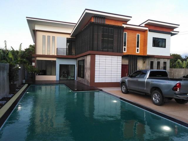 ภาพขายบ้านใหม่ 2 ชั้น 3 นอน 3 ห้องน้ำ +สระว่ายน้ำ