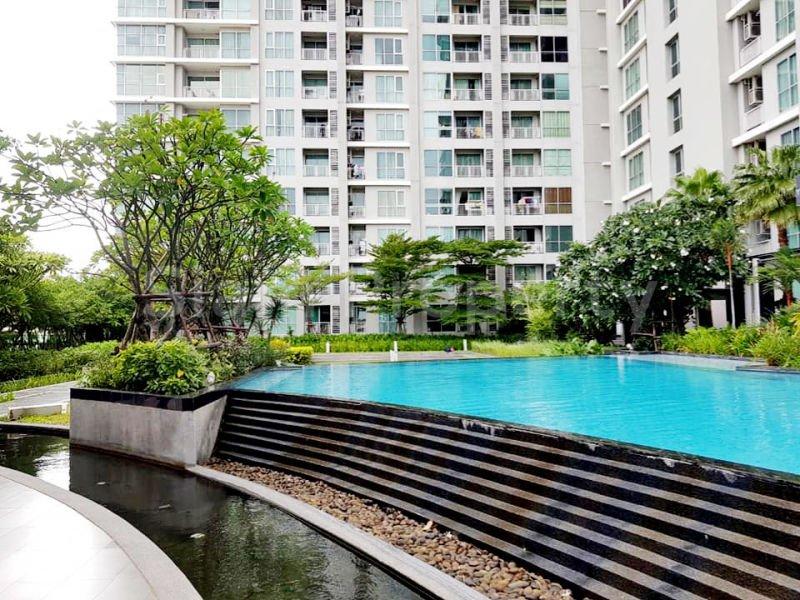 ภาพให้เช่าคอนโด Rhythm Ratchada ห้อง 336 ชั้น 32 ตึก A ขนาด 46 ตรม. วิวสวย ฝั่งสวน สระว่ายน้ำ และวิวเมือง ทิศตะวันออกค่ะ