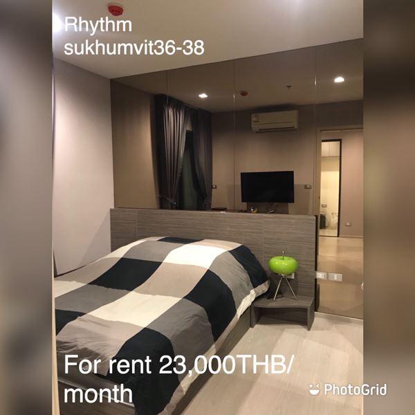 ภาพFor Rent or Sale Rhythm Sukhumvit 36 - 38 room-33 sqm 18 th floor-1 Bedroom Full furnish - Ready to move in