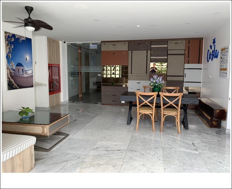 ภาพให้เช่า Costa Village Bangsaray พร้อมอ่างจากุชชี่ 9,900 บ./เดือน คอนโดหรูสไตล์เมดิเตอเรเนียน ตกแต่งครบ พร้อมอ่าง Jacuzzi ส่วนตัวที่ระเบียงห้องพัก