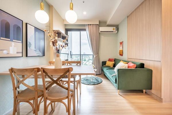 ภาพ(เช่า) FOR RENT M JATUJAK CONDOMINIUM / 2 beds 2 baths / 54 Sqm.**34,000** Fully Furnished. Cozy Decorated. CLOSE MRT JATUJAK