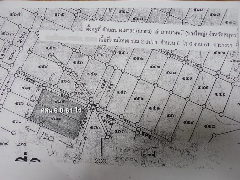 ภาพที่ดินเปล่า เนื้อที่ 6 ไร่ 61 ตร.ว. (6-0-61 ไร่)