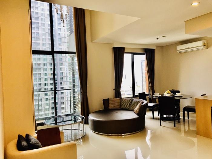ภาพเช่า ให้เช่า For Rent Villa Asoke (วิลล่า อโศก) 80 ตรม 1 นอน Duplex 2 น้ำ เฟอร์ครบ พร้อมอยู่