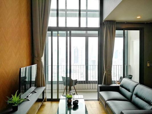ภาพ(เช่า) FOR RENT Q CHIDLOM-PETCHABURI / 2 beds 2 baths Duplex / 80 Sqm.**50,000** New Room. Fully Furnished. CLOSE PRATUNAM