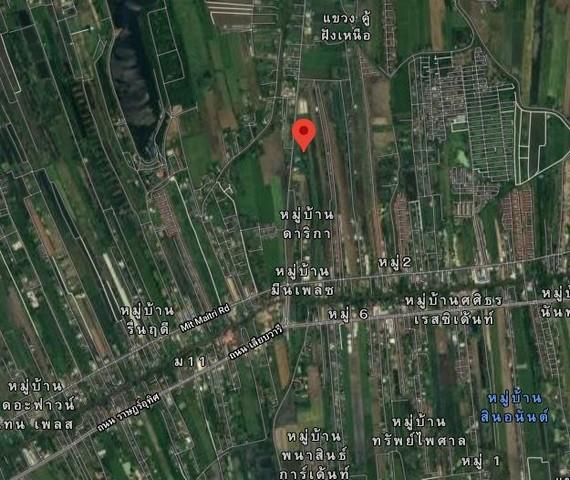 ภาพขายที่ดินหนองจอก ถนนคู้-คลองสิบ 6-1-43 ไร่