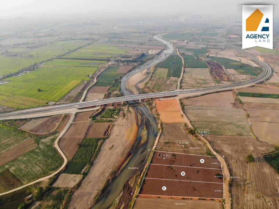 ภาพที่ดินติดแม่น้ำกก ราคาถูก ไม่ไกลจากตัวเมืองเชียงราย