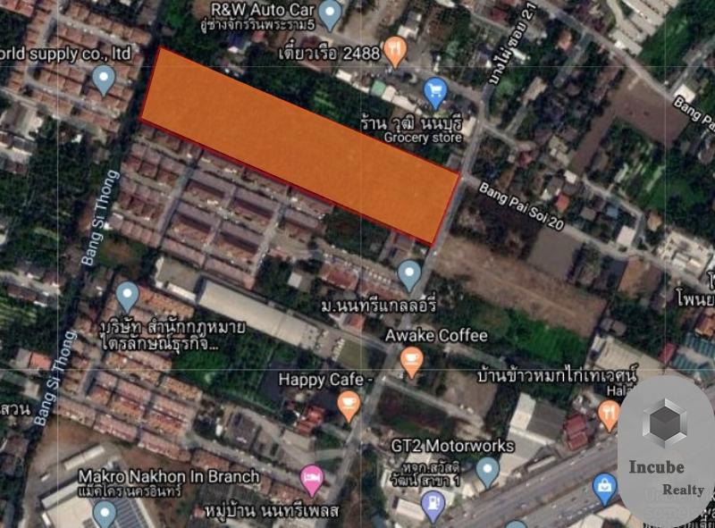 ภาพขายที่ดิน บางไผ่ นนทบุรี 14-3-2.7 ไร่