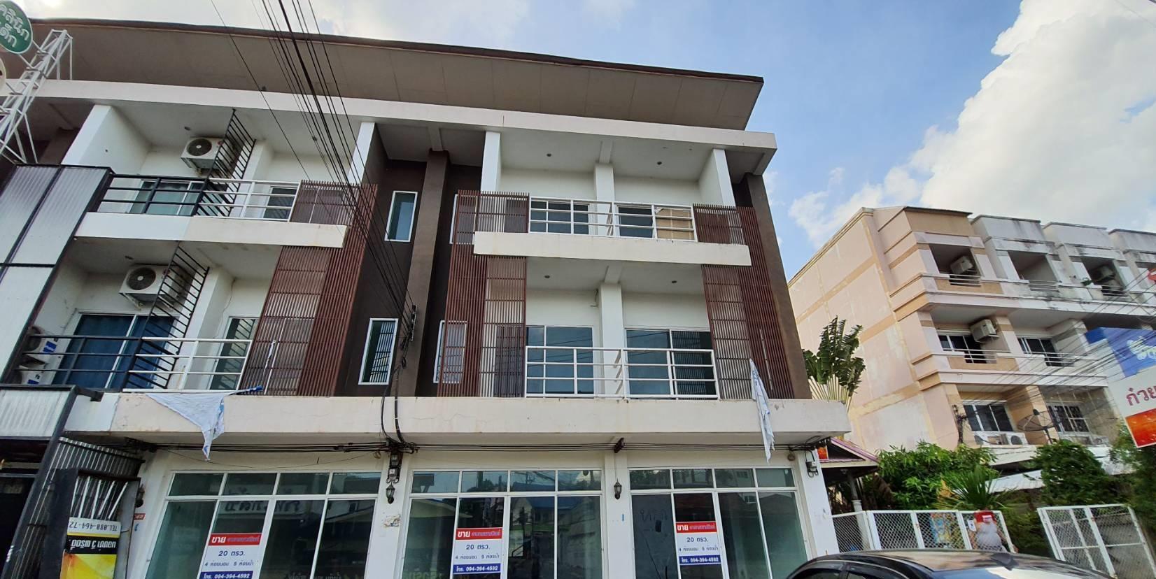 ภาพขาย อาคารพาณิชย์ 3ชั้น 3 คูหา 20 ตารางวา ในเมือง ขอนแก่น