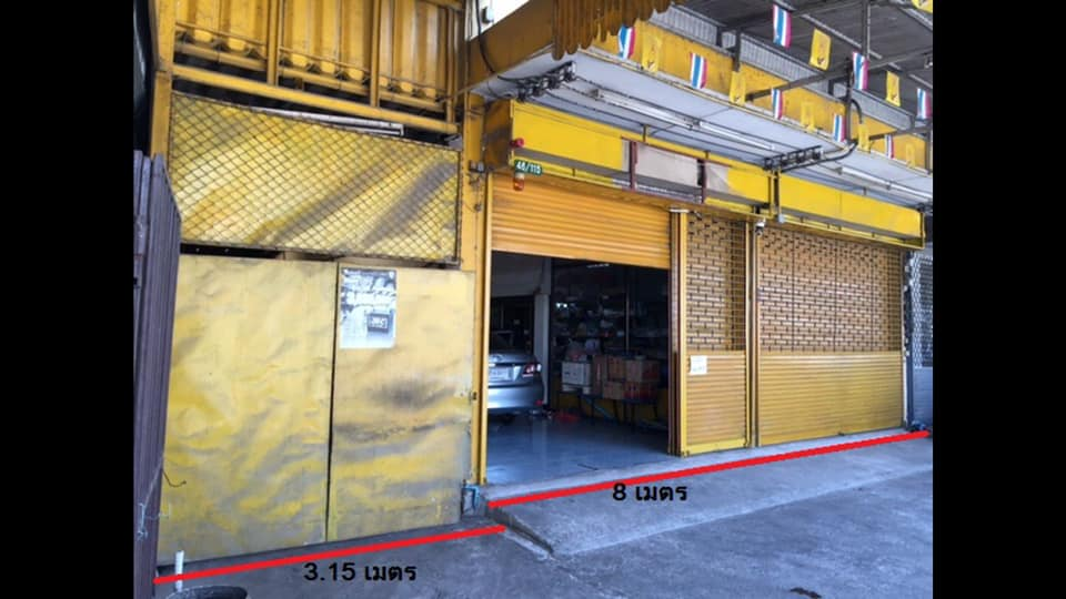 ภาพให้เช่า/ขาย อาคารพาณิชย์ 2 ห้อง มีพื้นที่ ติดถนน