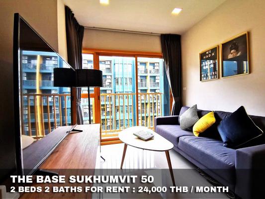 ภาพ(เช่า) FOR RENT THE BASE SUKHUMVIT 50 / 2 beds 2 baths / 46 Sqm.**24,000** Brand New Condo. Modern Decorated. CLOSE BTS ONNUT