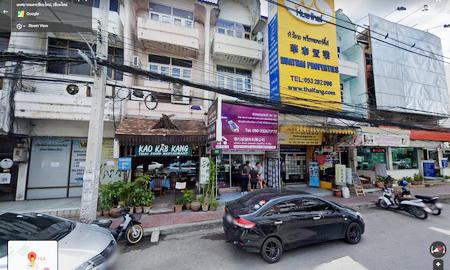 ภาพตึกแถวติดถนนช้างคลาน เชียงใหม่ ย่านธุรกิจทำเลดีมาก