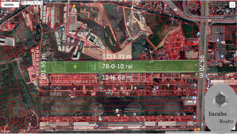 ขายที่ดินปทุมธานี 78-0-10.0 ไร่ 1200 ล้าน
