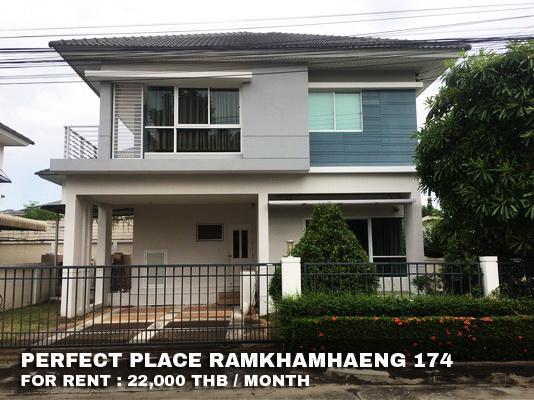 ภาพ(เช่า) FOR RENT PERFECT PLACE RAMKHAMHAENG 174 / 3 beds 3 baths / 60 Sqw.**22,000** Partly Furnished. CLOSE RUAMRUDEE SCHOOL