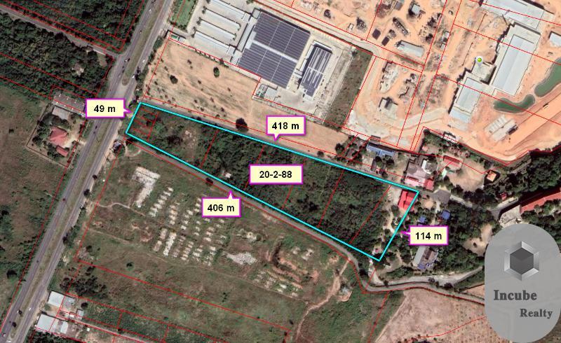 ภาพขายที่ดิน นาจอมเทียน 20-2-88.0 ไร่ 415 ล้าน