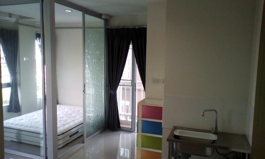 ให้เช่าคอนโด Asakarncity-รามคำแหง186 ตึกแรกห้องมุม 24 ตร.ม 1 ห้องนอน(โครงการติดถนนใหญ่รามคำแหง) แต่งครบพร้อมอยู่หิ้วเป๋าเข้าอยู่ได้ทันที