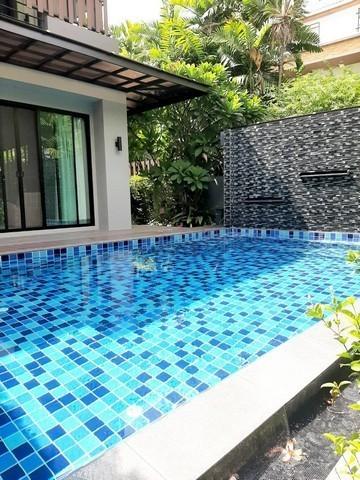 ภาพให้เช่าบ้านเดี่ยว ซอยปรีดีพนมยงค์ 14 และสระว่ายน้ำ