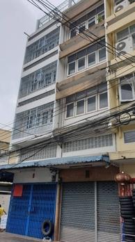 ภาพให้เช่า ตึกแถว 2 คูหา 5.5 ชั้น ย่านวงเวียน 22 เขตป้อมปราบฯ กทม. 10100