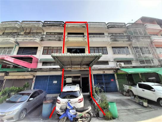 #ขายอาคารพาณิชย์ 3.5 ชั้น #เอกชัย 76  ( หน้ากว้าง 4 ม. x ลึก 32 ม. ) 32 ตรว.  แค่ 4 ล้าน ต่อรองได้