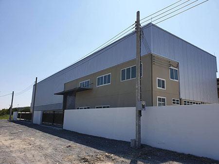SALE or RENT อาคารโกดังพร้อมสำนักงาน 2 ชั้น ติดวงแหวนบางนา-บางปะอินและทางด่วนบูรพาวิถี ตรงข้ามเมกาบา