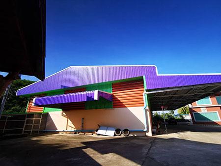 ขายบ้านพัก พร้อมโกดัง โรงงาน + ศาลาปฏิบัติธรรมแบบทรงไทย เขาสวนกวาง ขอนแก่น โทร 086-102-1341