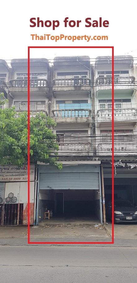 ขายอาคารพาณิชย์ ตึกแถว 4 ชั้นครึ่ง ซอยเรวดี ตลาดขวัญ เมืองนนทบุรี