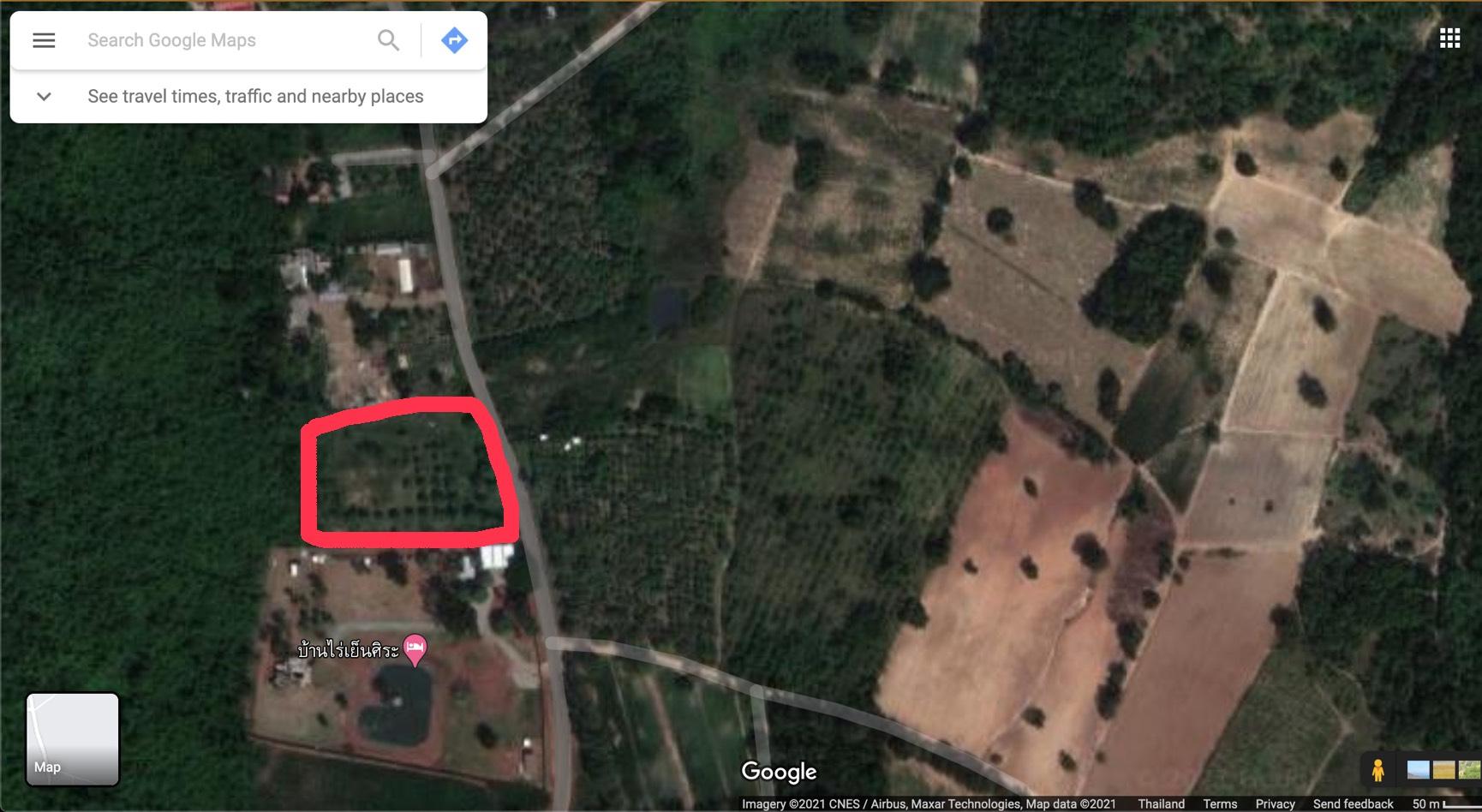 ขายที่ดิน 4 ไร่ 2 งาน ใกล้ถนน 332 อ.สัตหีบ จ.ชลบุรี