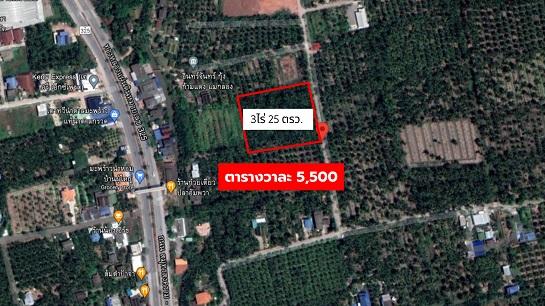 ภาพขายที่ดิน 3ไร่ 25ตรว. ทำเลสวย ห่างถนนเส้นหลักสมุทรสงคราม-บางแพ เพียง 350 เมตร