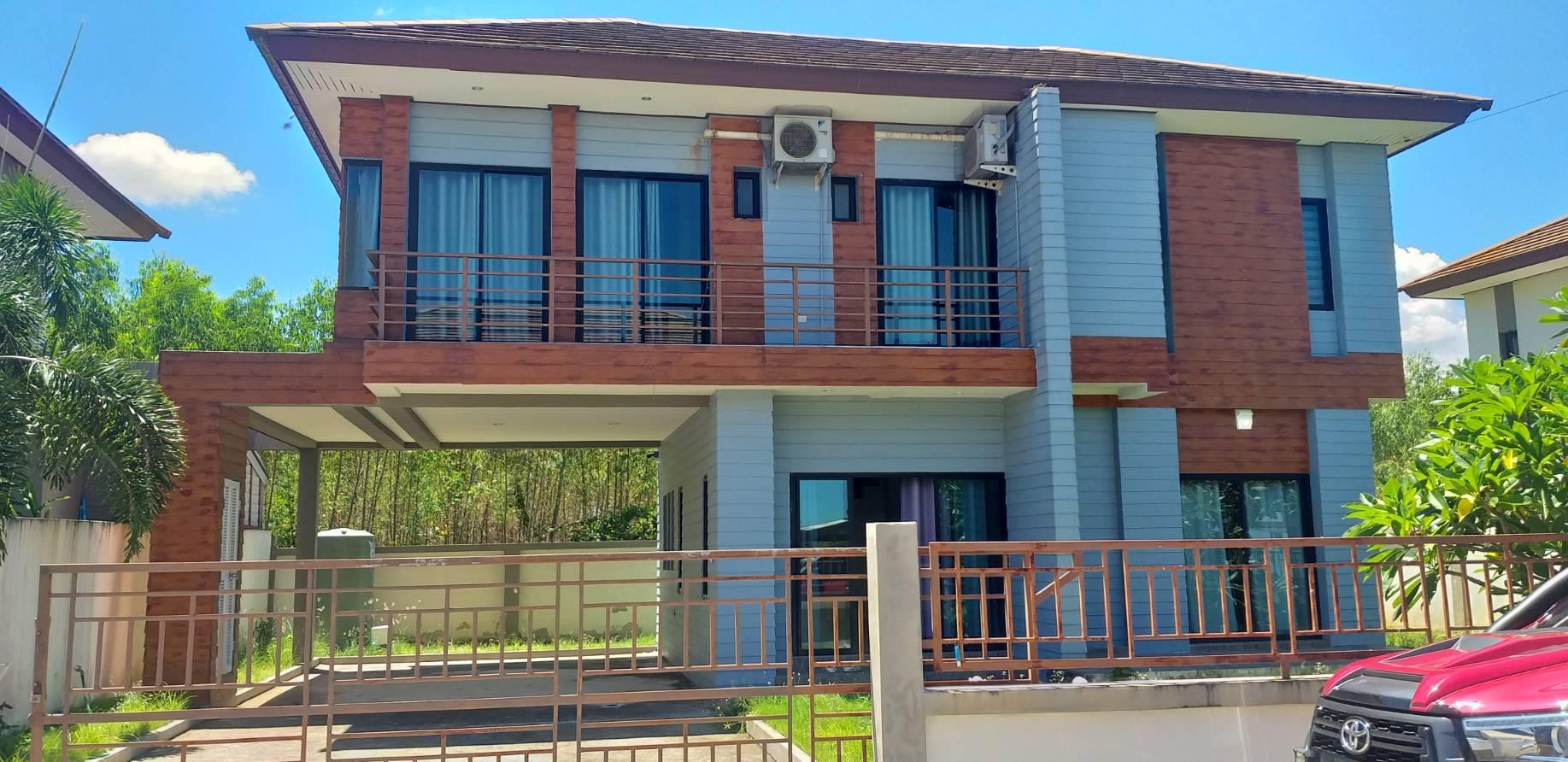 ขายด่วน บ้านเดี่ยว 2 ชั้น แซนสิริโฮม บ้านฉาง ระยอง ขนาด 76 ตรว. ราคา 2.98 ล้านบาท