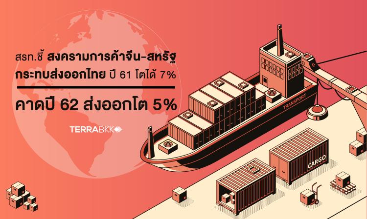 สรท. ชี้สงครามการค้าจีน-สหรัฐ กระทบส่งออกไทยปี 61 โตได้ 7% คาดปี 62 ส่งออกโต 5%