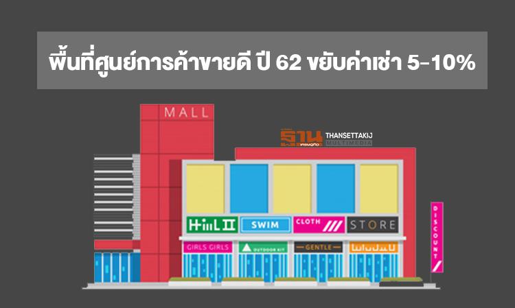 พื้นที่ศูนย์การค้าขายดี-ปี-62-ขยับค่าเช่า-5-10-