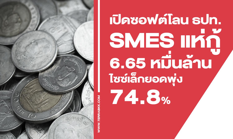 เปิดซอฟต์โลน ธปท. SMEs แห่กู้ 6.65 หมื่นล้าน ไซซ์เล็กยอดพุ่ง 74.8%