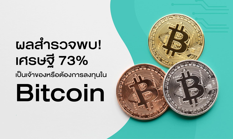 ผลสำรวจพบ ! เศรษฐี 73% เป็นเจ้าของหรือต้องการลงทุนใน Bitcoin