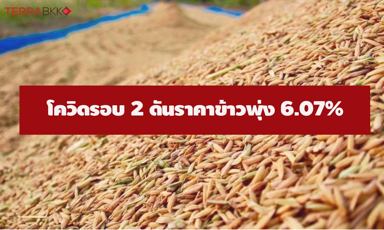 ศูนย์วิจัย ธ.ก.ส. ชี้โควิดรอบ 2 มีผลให้ข้าว ม.ค. 64 ราคาพุ่ง 6.07%