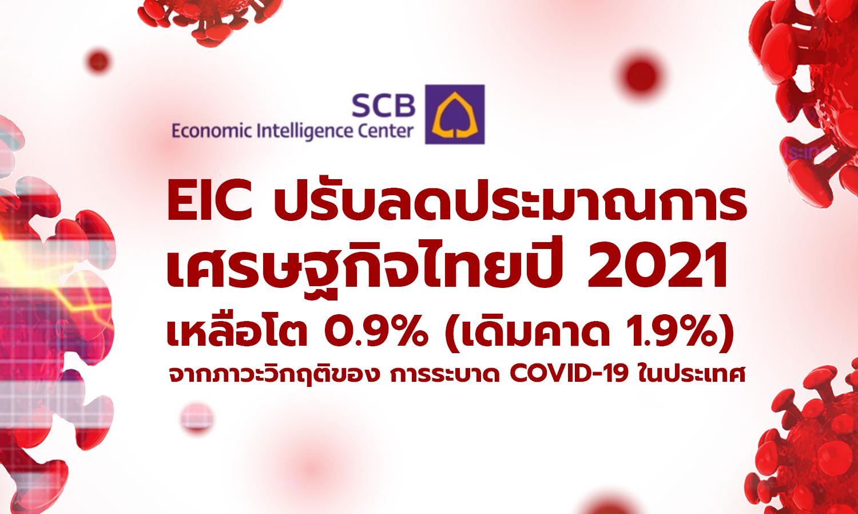 EIC ปรับลดประมาณการเศรษฐกิจไทยปี 2021 เหลือโต 0.9% (เดิมคาด 1.9%) จากภาวะวิกฤติของการระบาด COVID-19 ในประเทศ