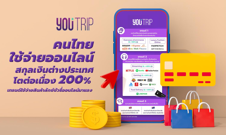 คนไทยใช้จ่ายออนไลน์สกุลเงินต่างประเทศโตต่อเนื่อง 200% เทรนด์ใช้จ่ายสินค้าลักซ์ชัวรี่ออนไลน์มาแรง