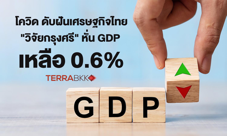โควิด ดับฝันเศรษฐกิจไทย วิจัยกรุงศรี หั่น GDP เหลือ 0.6%