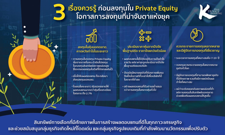3 เรื่องควรรู้เกี่ยวกับ Private Equity หนึ่งในการลงทุนที่น่าจับตาแห่งยุค สินทรัพย์ทางเลือกที่ช่วยเพิ่มเติมผลตอบแทนให้พอร์ตการลงทุน